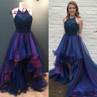 Sexy Luxury High Low Evening Dresses Party Plus Size Women Ladies Prom Formal Evening Gowns Dresses
