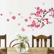Бабочки цветы наклейки на стену новогодние и домашние украшения