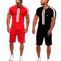 New Brand Men's Tracksuit Printed Sport Suit Men Running Sets Basketball Kit Body Building Fitness Sport Set Gym Jogging Suit