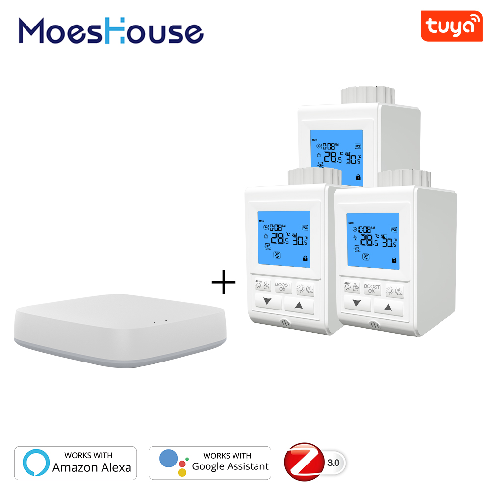 Smart TRV Thermostatic Radiator Valve Controller Thermostat Wireless Remote Control Voice Control Works With Alexa Google Home