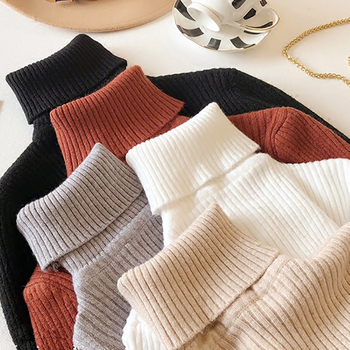 Turtleneck Sweater Women Pullover High Elasticity Fall Long Sleeve Women Sweater Knitted Winter Pull Femme Hiver Grande Taille bow knitted pullovers autumn winter women sweater jumper pullover sleeve long 2020 high elasticity fall sweater women pullover