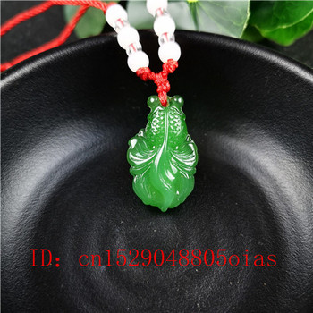 Natural Green Chinese Jade Goldfish Pendant Agate Necklace Fashion Charm Jewelry Carved Amulet Gifts for Women Men image