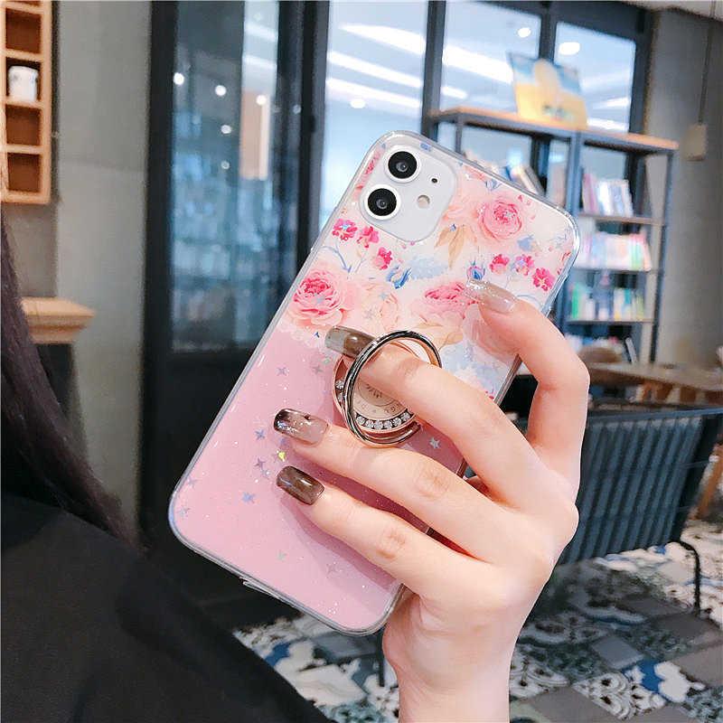 Чехол для телефона iPhone 11 Pro Max 2020SE XS Max XR X 6 6S 7 8 Plus Xs цветной чехол для телефона с кольцом для пальца