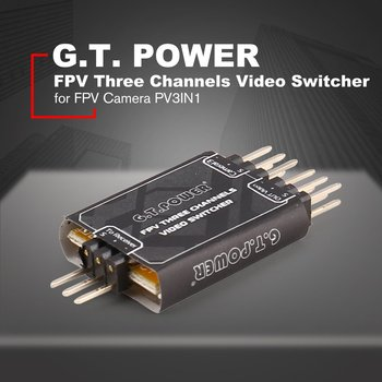 цена на New G.T.POWER 3 Channel Video Switcher Module 3 way Video Switch Unit for FPV Camera