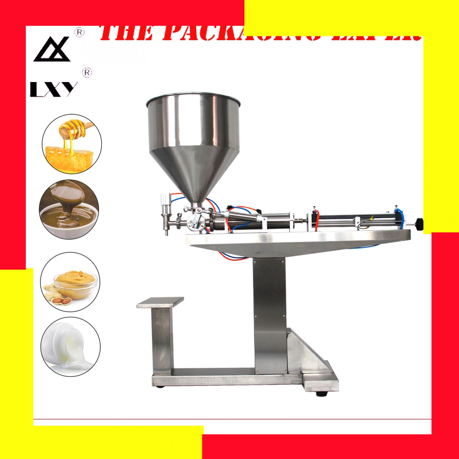 Cream Filling Machine Shampoo Lotion Yoghourt Honey Juice Sauce Jam Gel Paste With Stand Filler Pneumatic Piston Free Shipping