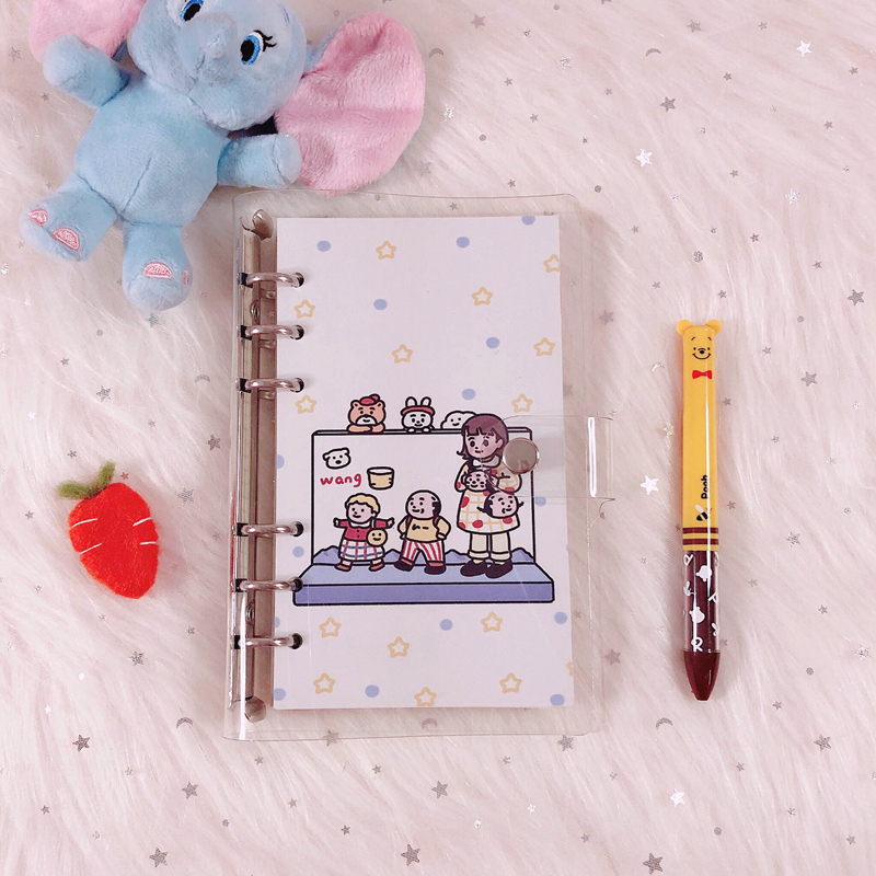 Hot Sale Cartoon Villain Loose Page Handbook A6 Grid Notebook Student Agenda Planner Diary Stationery School Exercise Book