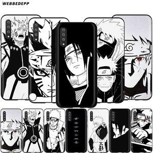Webbedepp Japan Anime Sketch Naruto Case for Samsung Galaxy S7 S8 S9 S10 Plus Edge Note 10 8 9 A10 A20 A30 A40 A50 A60 A70(China)