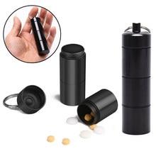 Porte-pilule étanche Portable en alliage d'aluminium, 1 pièce, porte-médicaments, boîte à médicaments, soins de santé, porte-clés