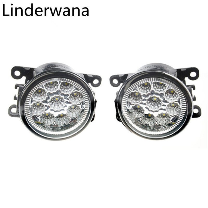 For <font><b>Renault</b></font> <font><b>Duster</b></font> Megane 2/3 Fluence Koleos Kangoo 2003-2015 Car styling <font><b>LED</b></font> Fog Lights CCC E2 9W DRL Fog Lamps 2pcs image