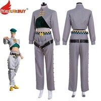CostumeBuy JoJo's Bizarre Adventure Rohan Kishibe Cosplay Costume Full Set Men Halloween Party Outfits Custom Made