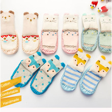 Sock Shoes Cartoon-Socks Newborn Baby Winter with Rubber for Girl Boy Toddler Warm Infant