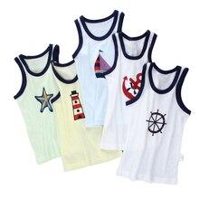 Kids Tanks Tops Kids Sleeveless100% Cotton Camisoles Vests Boy More Color Undershirt Kids Underwear Camisoles Clothes 00125