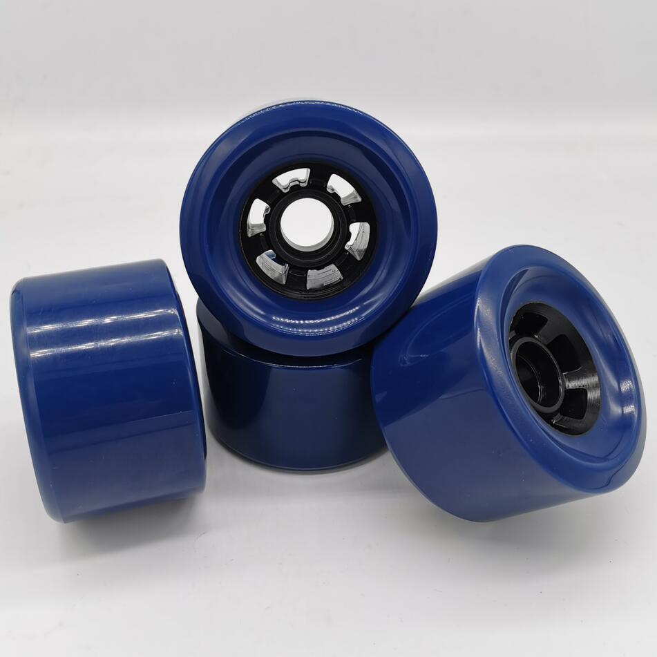 83*52mm 78AAA 85% Rebound High Quality Longboard Wheel Skateboard Wheels Dark Blue Color Professional Level Electric Wheels
