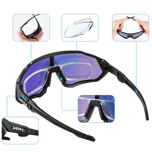 Óculos de ciclismo uv400 mtb bicicleta óculos de sol correndo pesca esportes óculos de sol 5