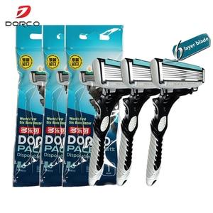 Image 5 - High Quality Dorco Razor Men 9 Pcs/lot 6 Layer Blades Razor for Men Shaving Stainless Steel Safety Razor Blades