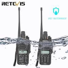 2 шт. RETEVIS IP67 влагонепроницаемые Walkie Talkie RT6 5 Вт 128CH VHF UHF fm-радио VOX SOS сигнализация профессиональная двухсторонняя радиостанция