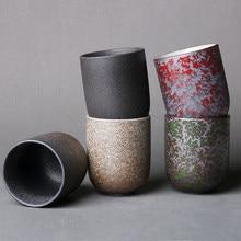 Фарфоровая чайная чашка кунг-фу 128 мл, японская керамическая кофейная кружка, чайная посуда из грубой глины, посуда для напитков, мастерские ...