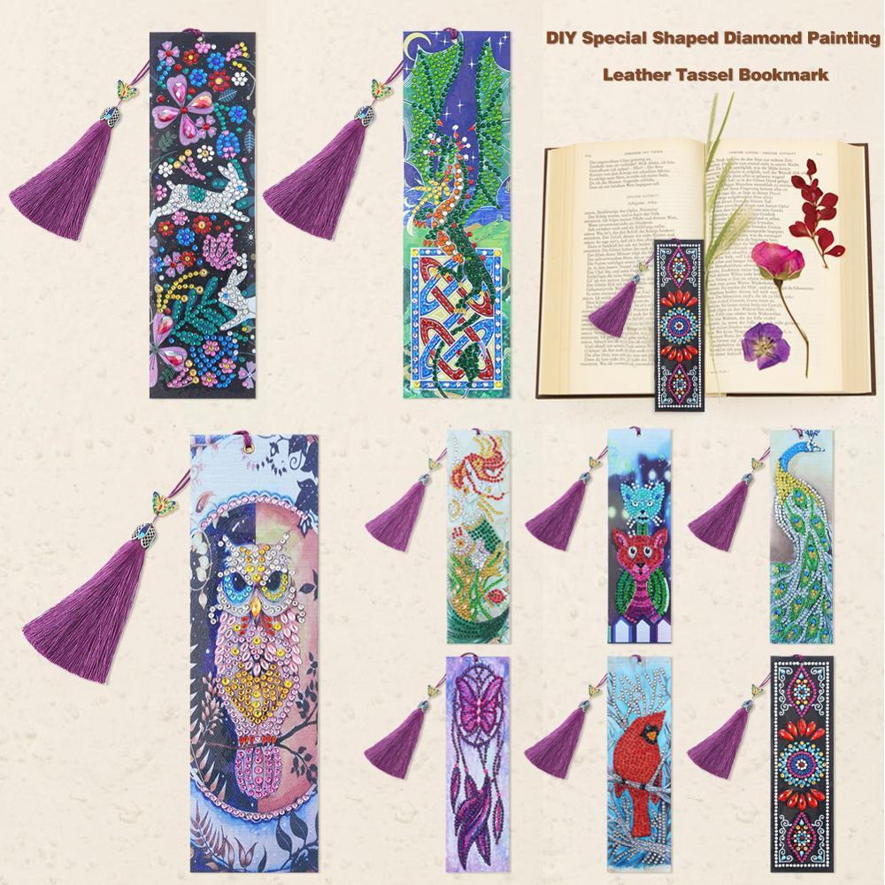 5D Diamond Painting Bookmark Tassel Book Marks Cross Stitch DIY Craft Decor
