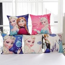Discounts Frozen Elsa Anna Princess Girls Decorative/nap Pillow Cases Cushion Cover 1 Piece  on Bed Sofa Children Birthday Gift