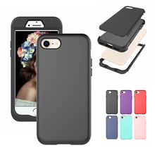 Shockproof Tough Hybrid Armor Drop Protection Case Cover For iPhone SE 2 (2020 RELEASE) iPhone 7 iPhone 8 cheap kumonkey Fitted Case shockproof case Apple iPhones Plain Anti-knock Dirt-resistant Heavy Duty Protection
