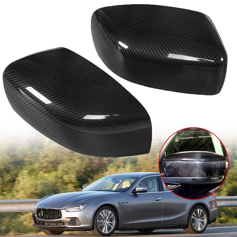 Car Side Rearview Mirror Cover Cap Trim Accessories for Maserati Ghibli 2013-2016