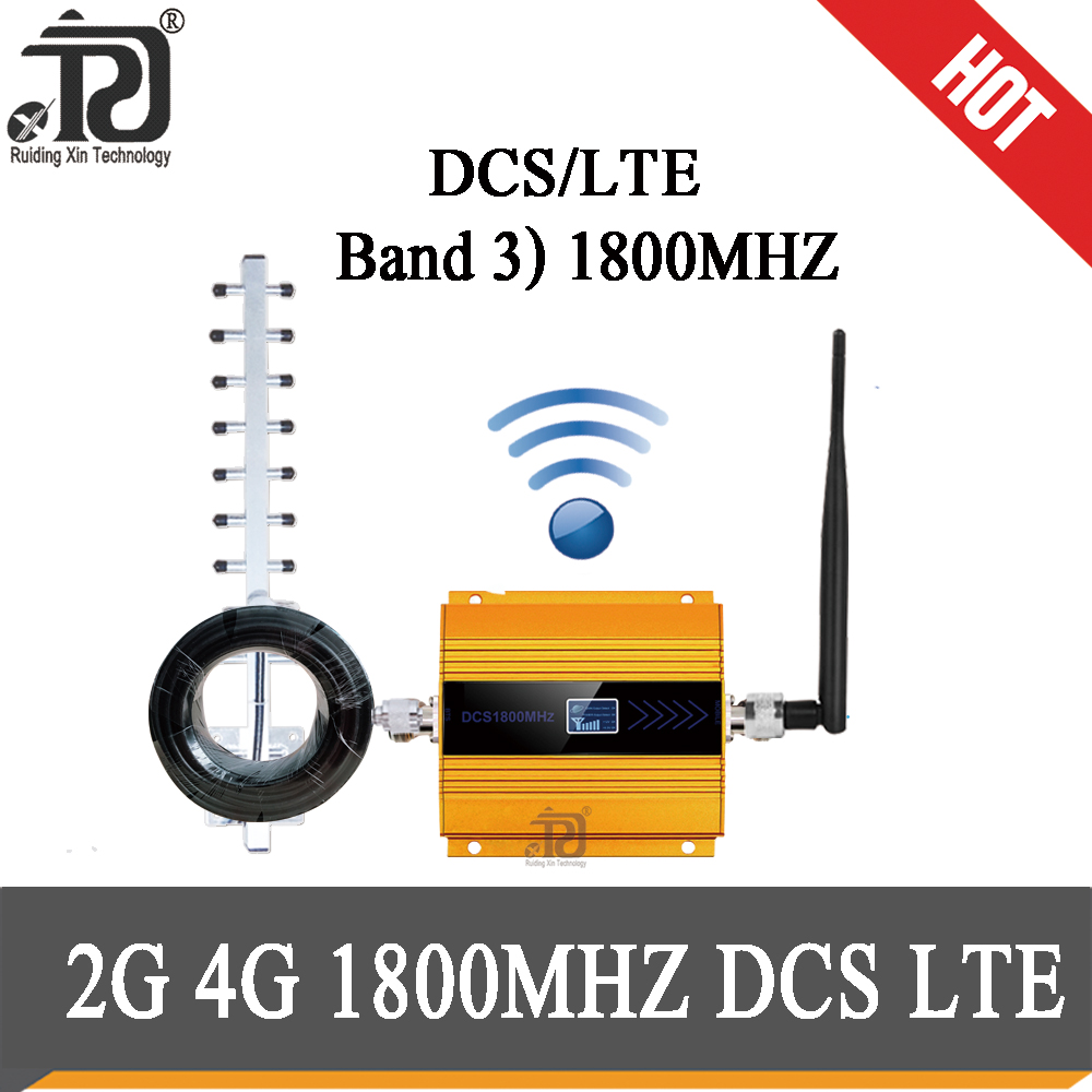 Gsm Repeater 1800 2g 4G Cellular Amplifier LTE DCS 1800mhz 4G Moblie Signal Booster 68dB Gain 4G Network Booster 4g Antenna