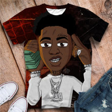 2020 Nba Youngboy 3D T 셔츠 루스 반팔 패션 쿨 T 셔츠 Streetwear Tshirt Drop Shipping(China)