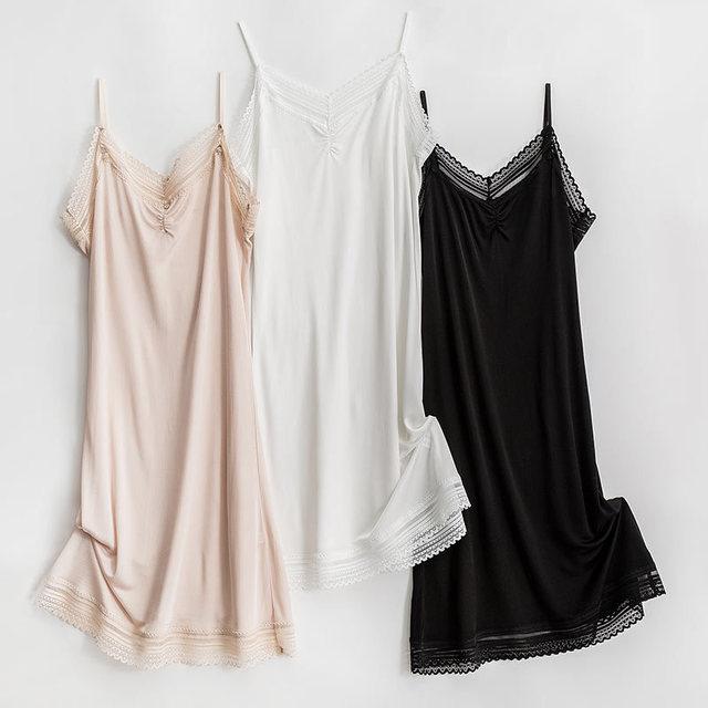 Женская вязаная ночная рубашка, 50% шелка, 50% вискозы, с регулируемыми бретелями, TG109