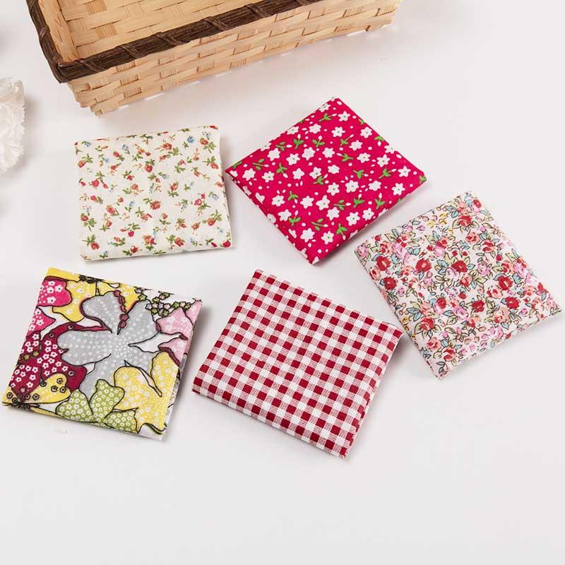 25x25cm /Pc Vintage Printed Patchwork Fabrics Doll Handmade Accessories Floral Cotton Fabrics For DIY TJ0537-2-3