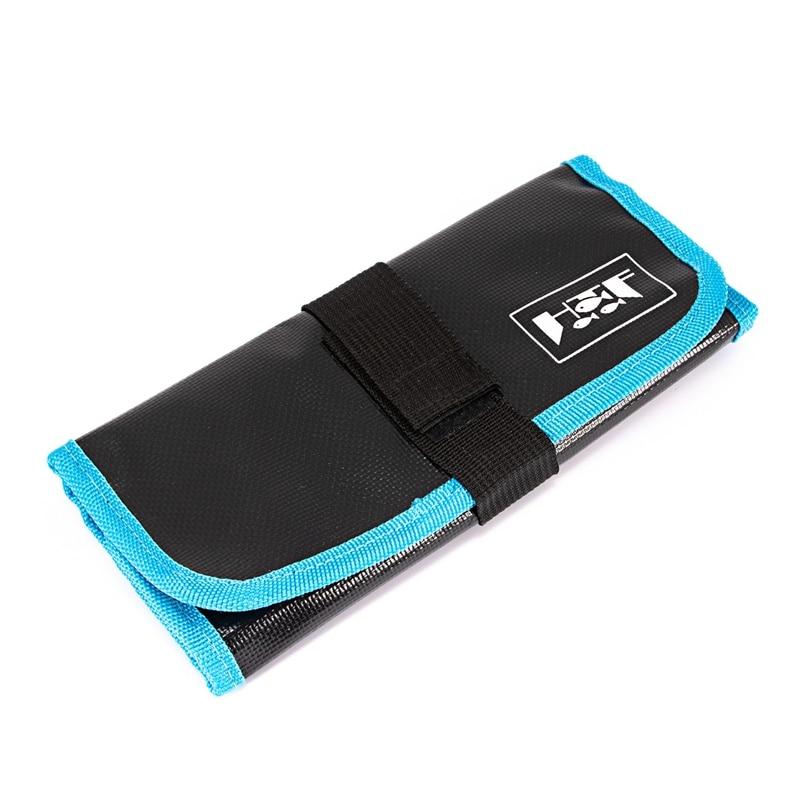 Blue Sea Fishing Soft Lure Jigging Jig Bag Waterproof Canvas Bags Lure Tool Accessories Bag 33X22cm