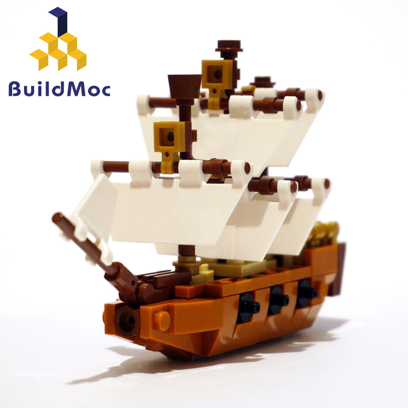BuildMOC <font><b>21313</b></font> Alternate ship build Sets Cruise Ship Model Boat DIY Building Diamond Mini Blocks Kit Children Kids Toys image