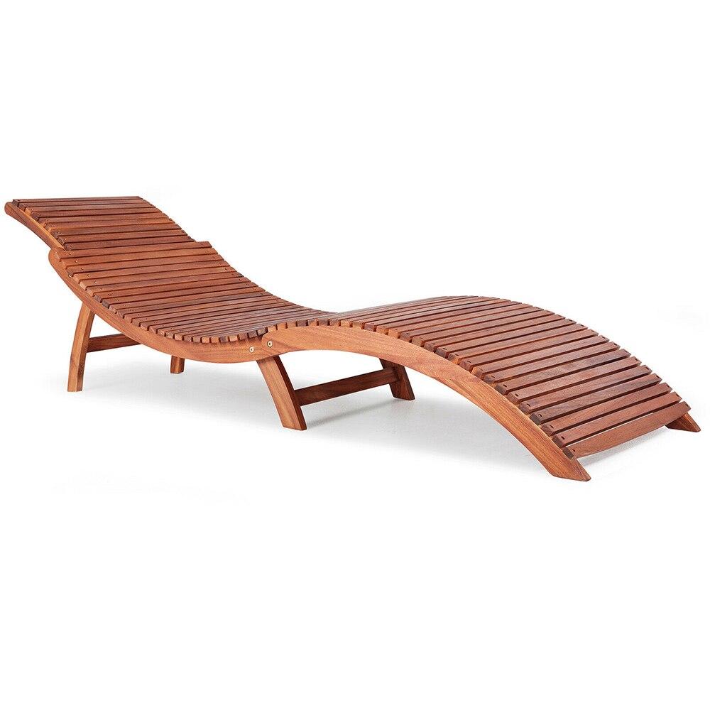 Panana Garden Bench Wooden Sun Lounger Ergonomic Deck Chair Foldable Comfortable Headrest Folding