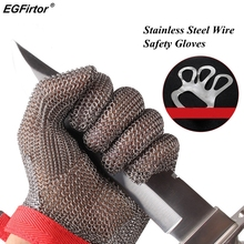 5 Level Anti cutting Work Gloves Stainless Steel Wire Safety Gloves Safety Stab Resistant Work Gloves Cut Metal