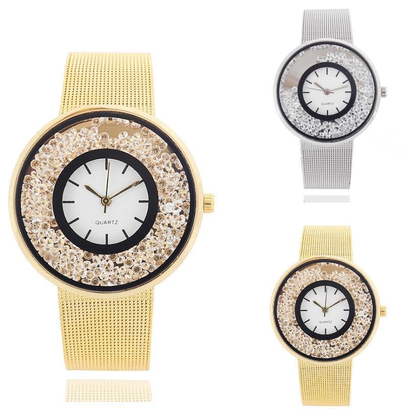 Cross Border Popular Personalized Bracelet Watch Ball Mesh Belt Watch High-end Elegant Korean Lady Quartz Student Watch