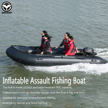 Sea Fishing Boat With Aluminum Floor Inflatable Boat PVC Anti-collision speed boat Raft boating kayak Water Sports Racing Boats