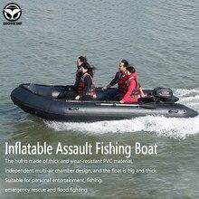 Bateau de pêche en mer gonflable avec plancher en aluminium, radeau Anti-collision en PVC, pour Sports aquatiques