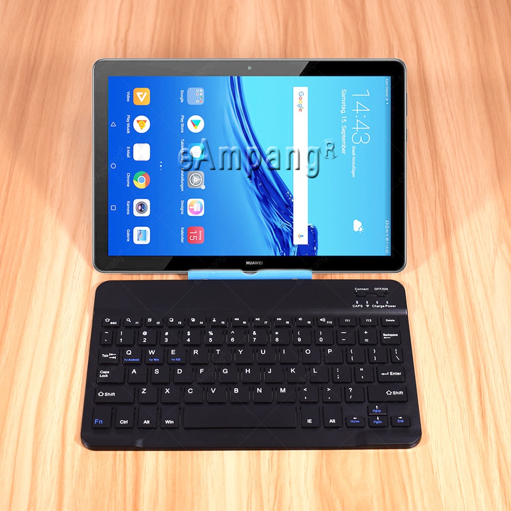 Keyboard For Huawei MediaPad T5 10.1 T3 10 9.6 T2 Pro 10.1 M2 Keyboard Russian Spanish Korean English 3.0 Bluetooth Keyboard