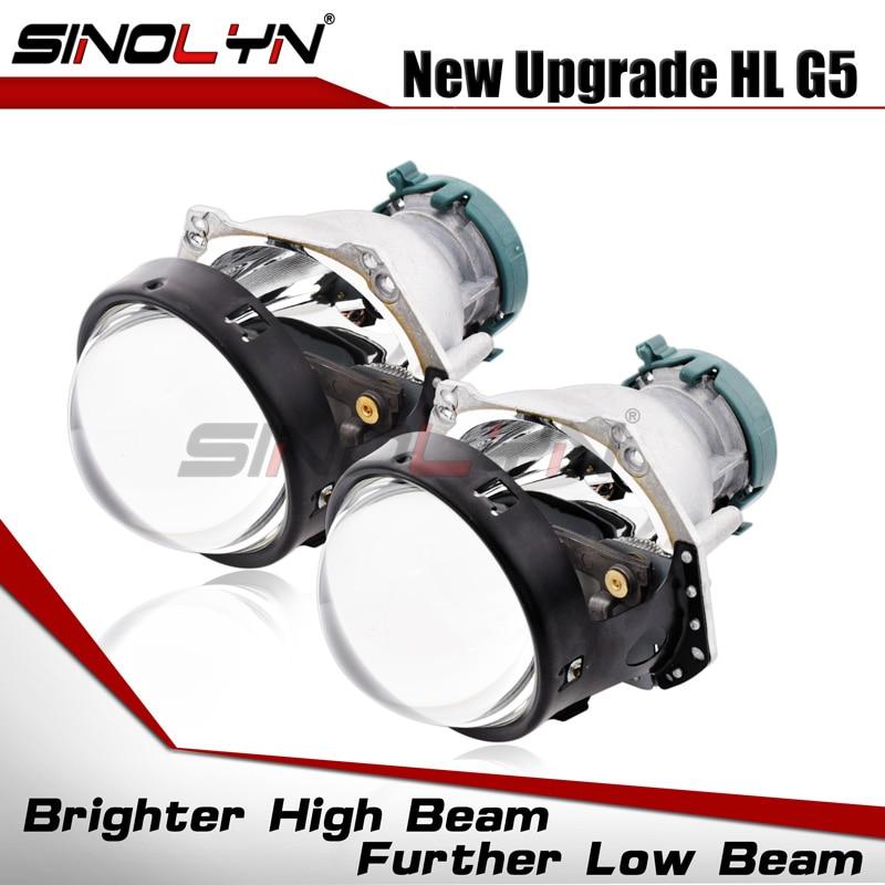 Sinolyn For Hella 3R G5 Bi-xenon Projector Lens Headlight Lenses 3.0 HID Replace Car Lights Accessories Retrofit D1S D2S D3S D4S