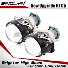 Sinolyn Lentes de faros delanteros para Hella 3R G5, 3,0 HID, bi xenón, reemplazo de luces de coche, accesorios de rediseño D1S D2S D3S D4S