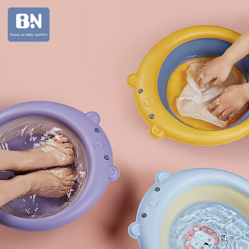 Foldable Baby Bath Tub Folding Basin Silicone Bathtub Portable Children Washing Face Foot Tubs Collapsible Thicken Washbasin