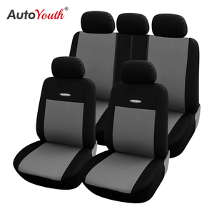 Image 1 - High Quality Car Seat Covers Polyester 3MM Composite Sponge Universal Fit Car Styling for lada Toyota seat cover car accessories