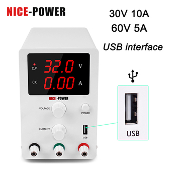 30V 10A variable Digital DC Switching Lab USB Power Supply Adjusrable Laboratory 60V 5A Voltage Regulators For Phone Repair image