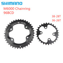 Shimano DEORE M6000 plato 96bcd 38-28t 36-26t para DEORE seis M7000 XT M8000 plato 22 velocidad(China)