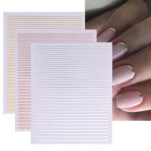 Черный белый цвет 3d наклейки для ногтей в виде геометрических