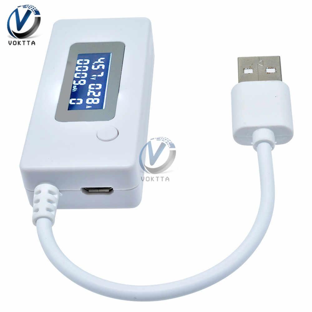 USB Khuếch Dòng Bút Thử Điện Áp Màn Hình LCD Kỹ Thuật Số Màn Hình Hiển Thị Công Suất Dung Lượng Pin Máy Đo USB Chỉ Báo Sạc