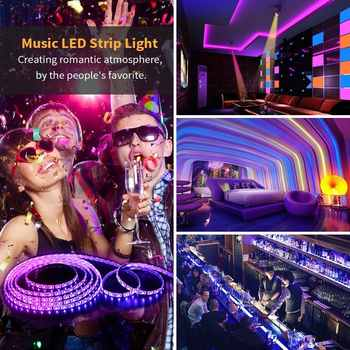 Smart WiFi LED Strip Lights 16.4FT Waterproof RGB 2835 LED Light Kit Work with Alexa Google Home IFTTT App Control Music Sync