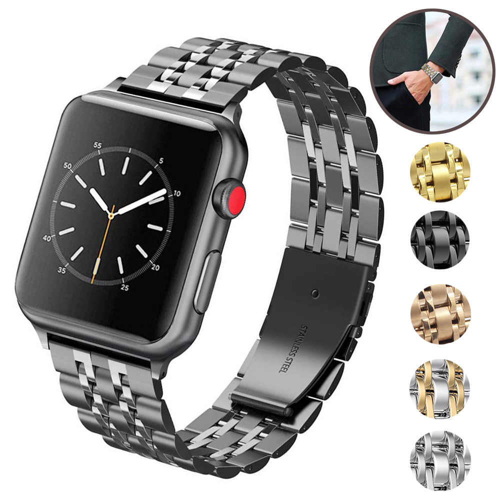 Correa de acero inoxidable para Apple Watch 4 bandas 42mm pulsera para iwatch series 1/2/3 42mm correa para iwatch series 4 40mm 44mm