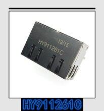 2 pces-20 pces original novo original autêntico hy911261c RJ-45 hy911261 rj45 dupla siamese interface de rede soquete