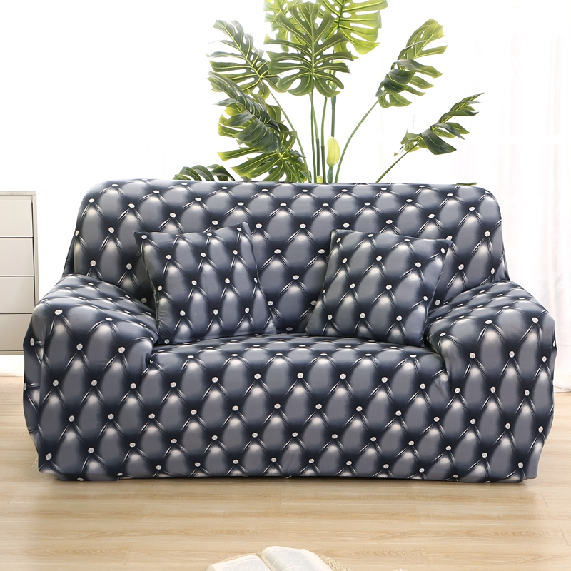 Wrinkle Free Couch Cover with Elastic and Straps for Sofa in Living Room Made of High Quality Spandex Material 22