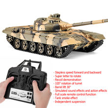 RC Car 1:16 Heng Long 3938-1 2.4Ghz Machine Radio Controlled Car Russian T-90 Battle RC Tank Toys for Boys With Smoking Sound(China)